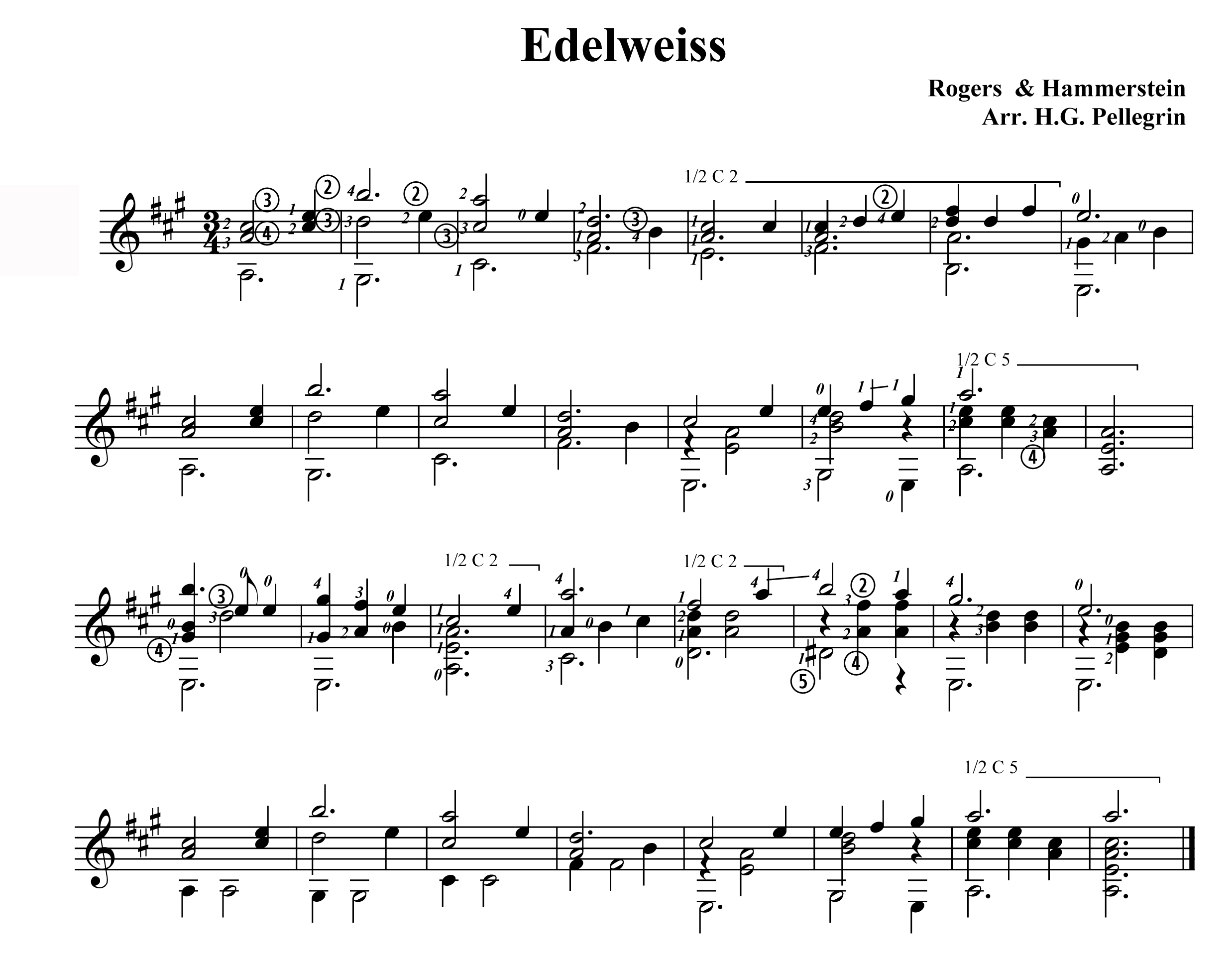 Guitar Chords For Edelweiss Choice Image Basic Guitar Chords