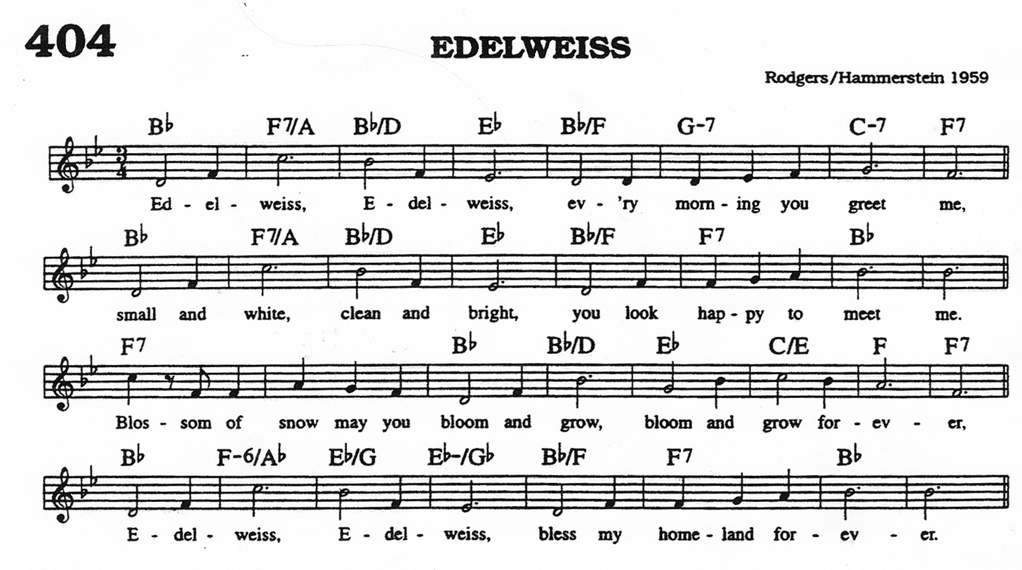 Guitar Sheet Music Lyrics Guru Edelweiss Pictures
